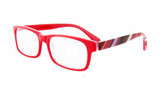 Calabria 857 Designer Eyeglasses in Red :: Rx Bi-Focal