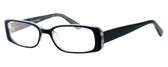 Moda Vision 8004 Designer Eyeglasses in Black :: Rx Bi-Focal