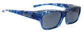 Jonathan Paul® Fitovers Eyewear Kids Extra-Small Choopa in Blue-Blast & Gray CH001