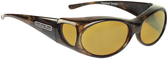 Jonathan Paul® Fitovers Eyewear Small Aurora in Brown-Marble & Yellow AR008Y