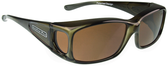 Jonathan Paul® Fitovers Eyewear Small Razor in Olive-Charcoal & Amber RZ003A