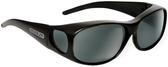 Jonathan Paul® Fitovers Eyewear Medium Element in Matte-Black & Gray EM001