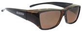 Jonathan Paul® Fitovers Eyewear Large Neera in Leopard-Black & Amber NR003A