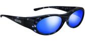 Jonathan Paul® Fitovers Eyewear Small Binya in Blue-Cloud & Blue Mirror BN001BM