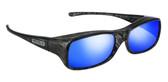 Jonathan Paul® Fitovers Eyewear Large Mooya in Black-Wind & Blue Mirror MY002BM