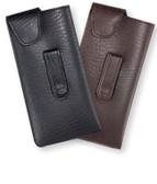 Large Designer Soft Eyeglass Case ; Durango Metal Clip
