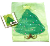 Holiday Christmas Theme Cleaning Cloth Tree