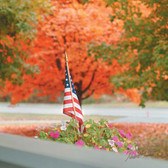 """American Flag Photography Cleaning Cloth """"Autumn Flag"""""""