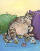 Cat Humor 240 23b 2 Artist Micro Fiber Cleaning Cloth