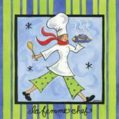 La Femme Chef Artist 240-25a-2 Micro Fiber Cleaning Cloth