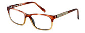 Parkman Handcrafted Eyeglasses Francesa in Cranberry Tan with Money ; Made in the USA :: Custom Left & Right Lens