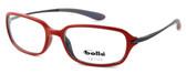 Bollé Neuilly Designer Eyeglasses in Opaque Red w/ Dark Gun :: Custom Left & Right Lens