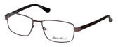 Eddie Bauer Designer Eyeglasses EB8601-Matte-Brown in Matte-Brown 57mm :: Custom Left & Right Lens