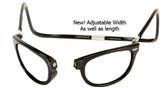 Clic Magnetic Eyewear Regular Fit Ashbury Wide Style in Black :: Custom Left & Right Lens