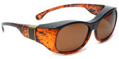 Haven Designer Fitover Sunglasses Sunset in Tortoise with Leather & Polarized Amber Lens (LARGE)