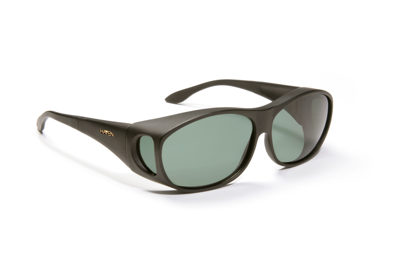 39fd908ecec Haven Designer Fitover Sunglasses Meridian in Black   Polarized Grey Lens  (MEDIUM)