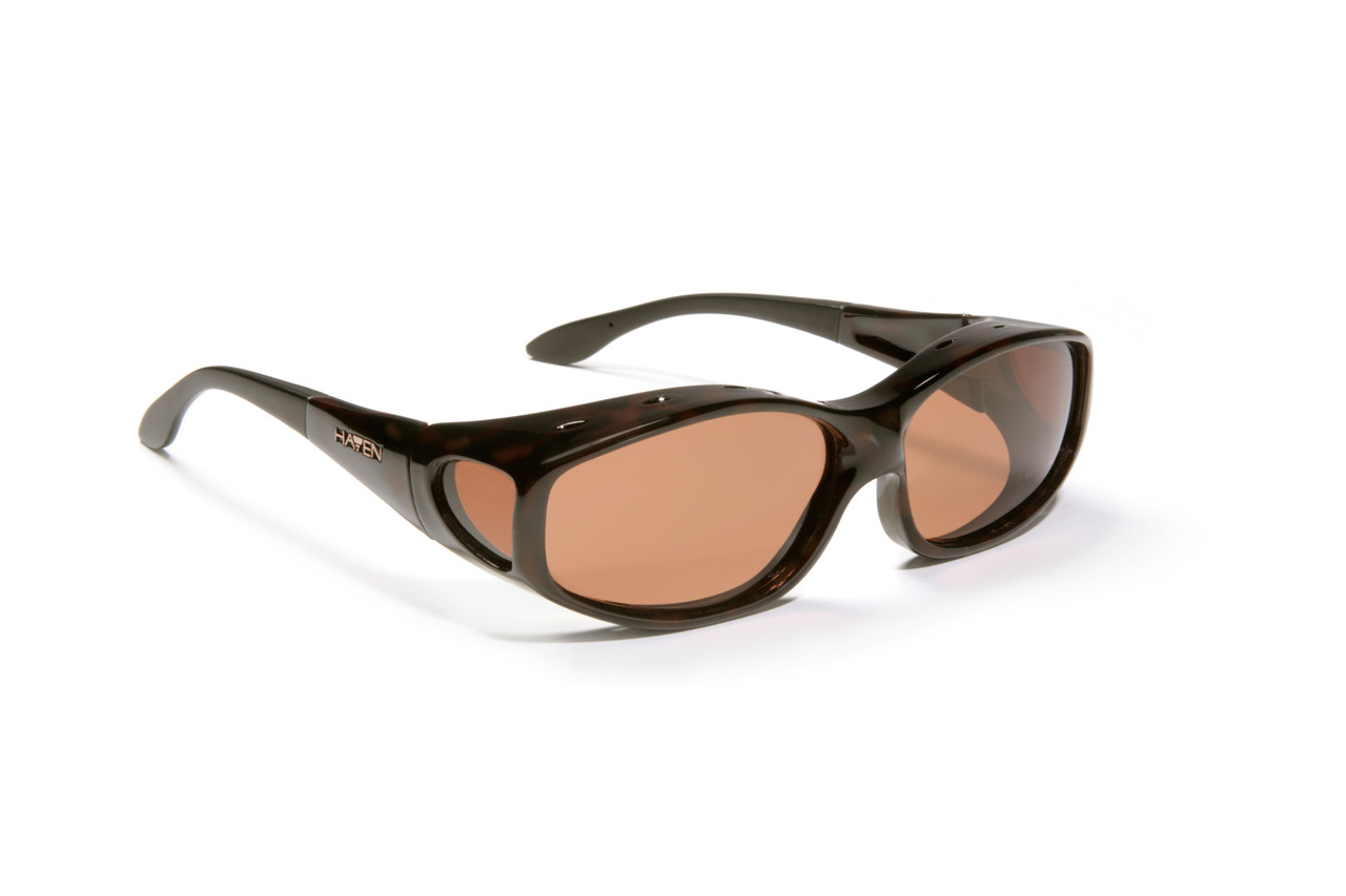 da01e11a60 Haven Designer Fitover Sunglasses Biscayne in Tortoise   Polarized Amber  Lens (MEDIUM)