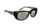 Haven Designer Fitover Sunglasses Morgan in Black with Smoke Marble & Polarized Grey Lens (MEDIUM/LARGE)