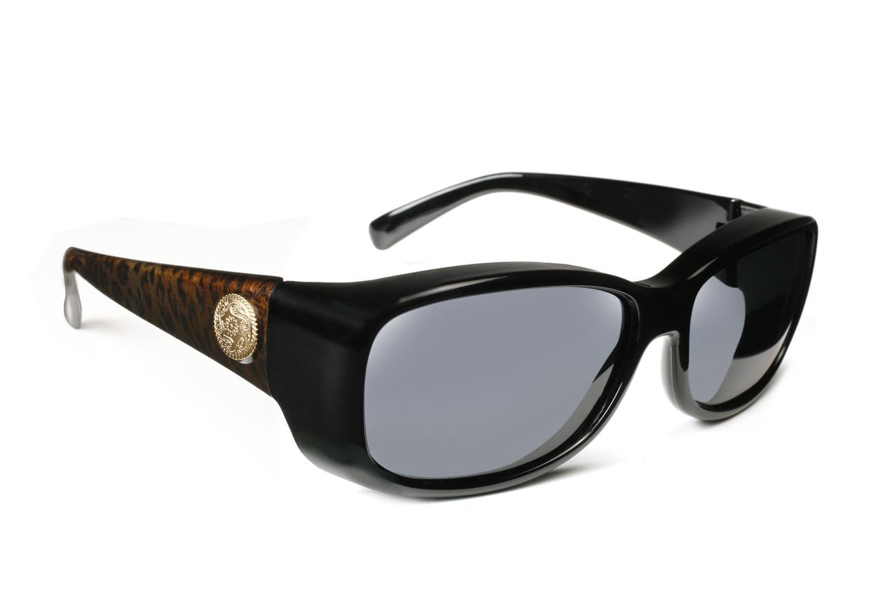 c2a0cce672 Haven Designer Fitover Sunglasses Dahlia in Black Leopard   Polarized Grey  Lens (Small)