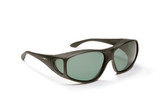 Haven Designer Fitover Sunglasses Everest in Black & Polarized Grey Lens (XL)