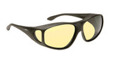 Haven Designer Fitover Sunglasses Night Driver in Black & Night Driver Yellow Lens (XL)