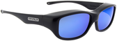 Jonathan Paul® Fitovers Eyewear Medium Queeda in Eternal-Black & Blue Mirror QS001BM