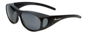 Montana Designer Fitover Sunglasses F01G in Matte Black & Polarized Grey Lens