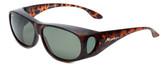 Montana Designer Fitover Sunglasses F03B in Matte Tortoise & Polarized G15 Green Lens