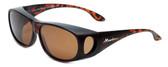 Montana Designer Fitover Sunglasses F03C in Matte Tortoise & Polarized Brown Lens
