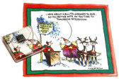 Holiday Christmas Theme Cleaning Cloth, Move my tee time…