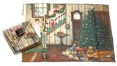 Holiday Christmas Theme Cleaning Cloth, Christmas Eve
