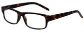 M Readers Designer Reading Glasses 100-MDEMI in Matte Tortoise 52mm