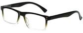 M Readers Designer Reading Glasses 104-SGNGT in Black Olive Fade 53mm