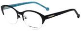 Jonathan Adler Designer Eyeglasses JA101-Black in Black 52mm :: Custom Left & Right Lens