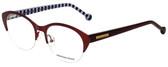 Jonathan Adler Designer Eyeglasses JA101-Bur in Burgundy 52mm :: Progressive