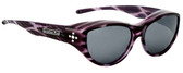 Jonathan Paul® Fitovers Eyewear Medium Chic Kitty in Purple Cheetah & Grey CK004S