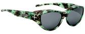 Jonathan Paul® Fitovers Eyewear Medium Chic Kitty in Emerald Demi & Grey CK005S