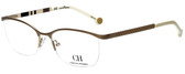 Carolina Herrera Designer Reading Glasses VHE060-0300 in White Gold 54mm