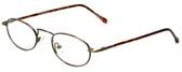 Calabria FlexPlus 62 Ant Gold Amber Eyeglasses :: Custom Left & Right Lens