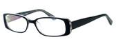 Moda Vision 8004 Designer Eyeglasses in Black :: Rx Progressive