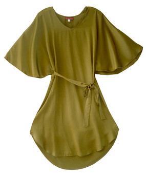 100% silk manta dress
