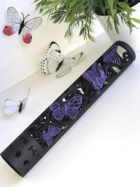Butterfly hand guard 2 color black and wild purple
