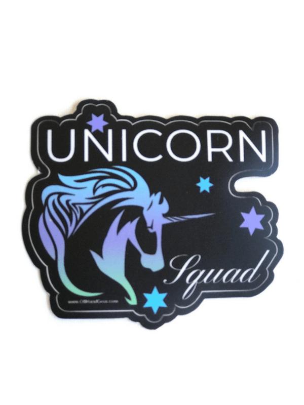 Unicorn Sticker Black