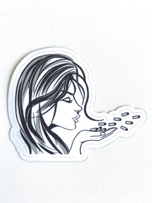 Blowing Bullets Sticker