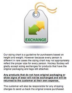 Size Exchange Form