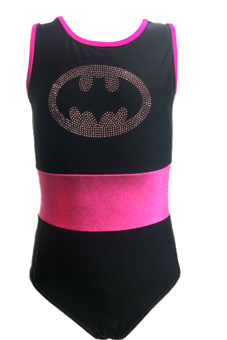 Girls Gymnastics Leotards: black, pink