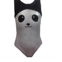 Girls Gymnastics Leotards: panda, black, white