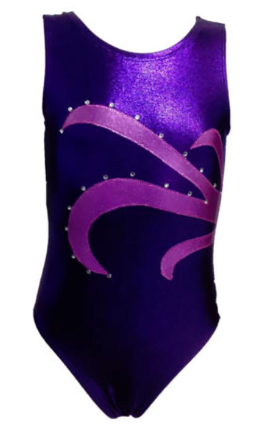 Girls Gymnastics Leotards: purple
