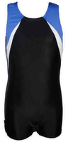 Boys Gymnastics Leotard: blue, white and black