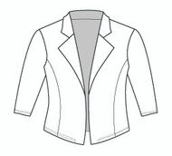 Half Sleeve Clean Front Riding Jacket (535H)